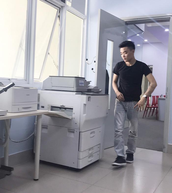 Cho thuê máy photocopy Ricoh MP 7502 tại trung tâm tiếng anh CS3