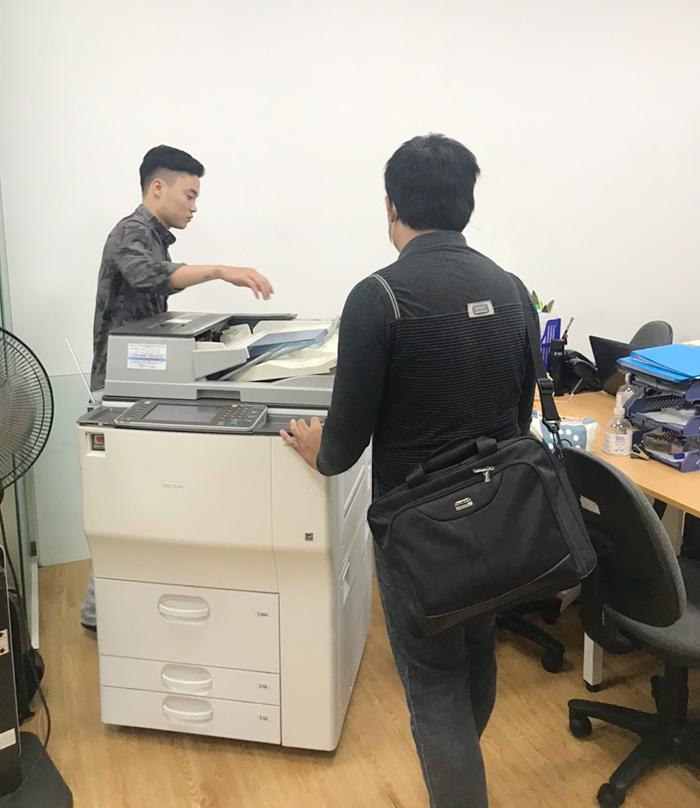 Cho  thuê máy photocopy MP7502 tại trung tâm tiếng anh CS1 tại Hà Nội