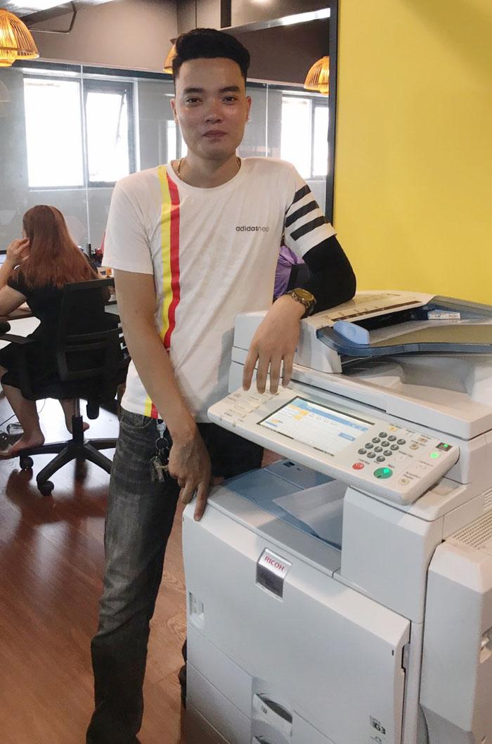 Cho thuê máy photocopy Ricoh Aficio MP 7001 cho khách hàng tại Hà Nội