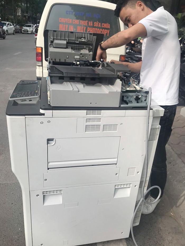 Cho thuê máy photocopy Ricoh MP7502 tại trung tâm tiếng Anh CS2 tại Hà Nội