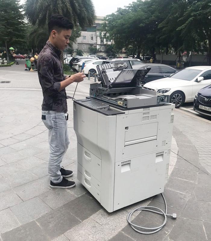 Cho thuê máy photocopy cho trung tâm tiếng Anh cơ sở 4 tại Long Biên