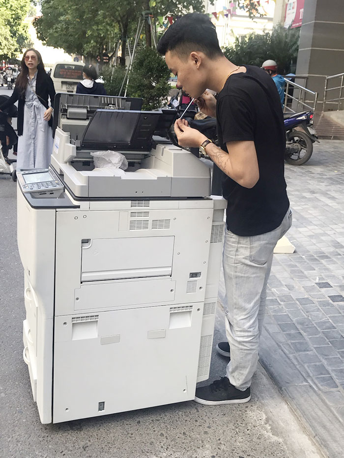 Trung tâm tiếng anh cơ sở 5 tại Hà Đông, Hà Nội thuê máy photocopy